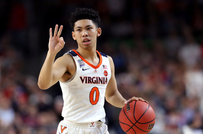 MINNEAPOLIS, MINNESOTA - APRIL 08: Kihei Clark #0 of the Virginia Cavaliers handles the ball on offense against the Texas Tech Red Raiders in the second half during the 2019 NCAA men's Final Four National Championship game at U.S. Bank Stadium on April 08, 2019 in Minneapolis, Minnesota. (Photo by Streeter Lecka/Getty Images)