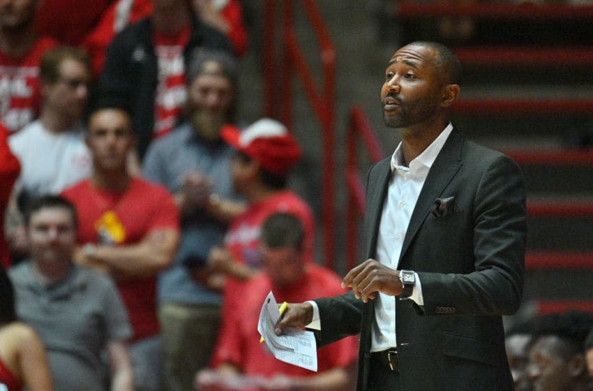 ALBUQUERQUE, NEW MEXICO - NOVEMBER 09: Assistant coach Mo Williams of the Cal State Northridge Matadors looks on during his team's game against the New Mexico Lobos at Dreamstyle Arena - The Pit on November 09, 2019 in Albuquerque, New Mexico. (Photo by Sam Wasson/Getty Images)