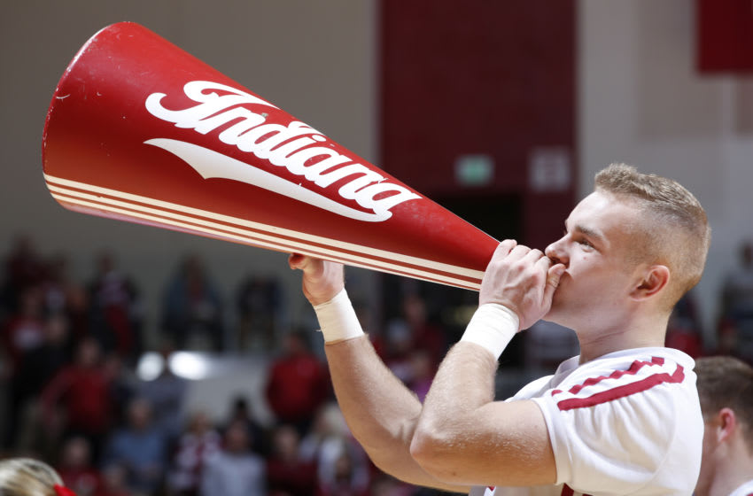 BLOOMINGTON, IN - DECEMBER 03: Indiana Hoosiers cheerleader is seen during a game against the Florida State Seminoles at Assembly Hall on December 3, 2019 in Bloomington, Indiana. Indiana defeated Florida State 80-64. (Photo by Joe Robbins/Getty Images)