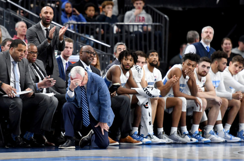 LAS VEGAS, NEVADA - DECEMBER 21: Head coach Roy Williams of the North Carolina Tar Heels (Photo by Ethan Miller/Getty Images)