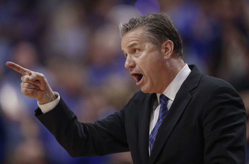LEXINGTON, KY - FEBRUARY 04: Head coach John Calipari of the Kentucky Wildcats calls out during the second half against the Mississippi State Bulldogs at Rupp Arena on February 4, 2020 in Lexington, Kentucky. (Photo by Michael Hickey/Getty Images)