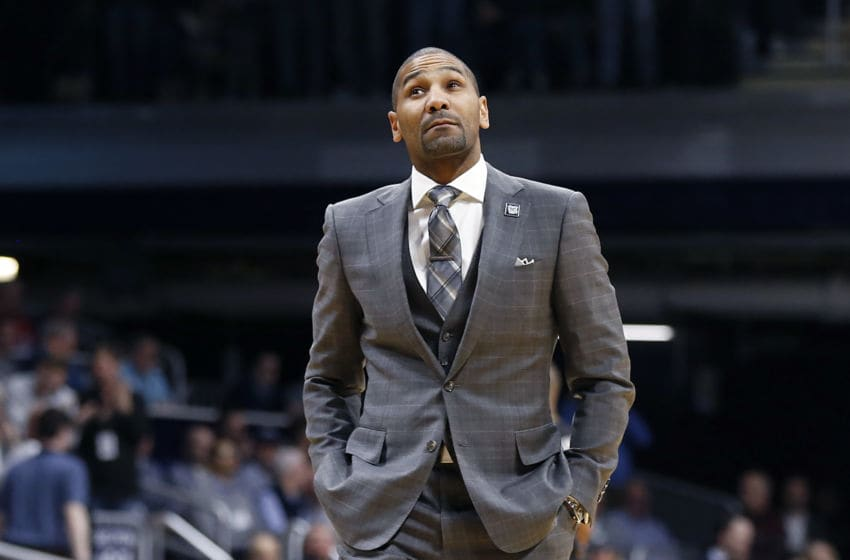 INDIANAPOLIS, INDIANA - FEBRUARY 05: Head coach LaVall Jordan of the Butler Bulldogs walks the sidelines in the game against the Villanova Wildcats at Hinkle Fieldhouse on February 05, 2020 in Indianapolis, Indiana. (Photo by Justin Casterline/Getty Images)