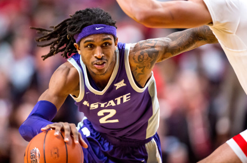 LUBBOCK, TEXAS - FEBRUARY 19: Guard Cartier Diarra #2 of the Kansas State Wildcats handles the ball during the second half of the college basketball game against the Texas Tech Red Raiders on February 19, 2020 at United Supermarkets Arena in Lubbock, Texas. (Photo by John E. Moore III/Getty Images)