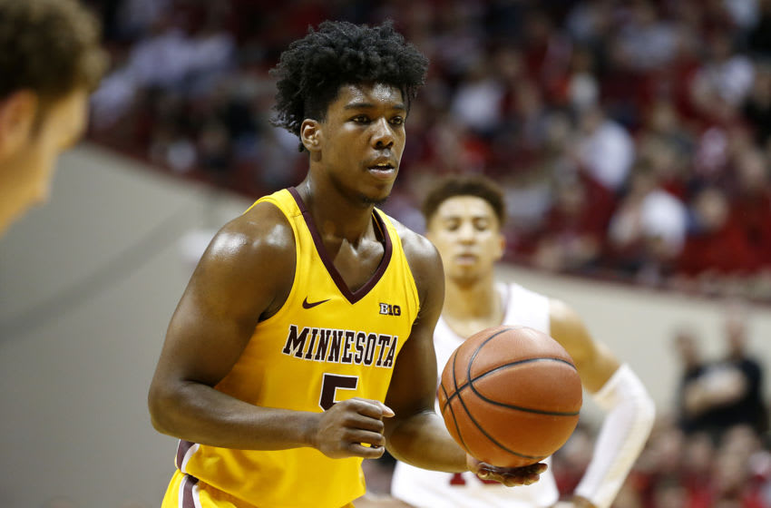 BLOOMINGTON, INDIANA - MARCH 04: Marcus Carr #5 of the Minnesota Golden Gophers shoots a free throw in the game against the Indiana Hoosiers at Assembly Hall on March 04, 2020 in Bloomington, Indiana. (Photo by Justin Casterline/Getty Images)