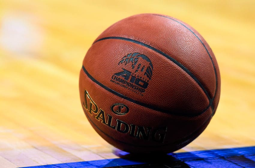 NEW YORK, NY - MARCH 13: A detailed view of a Spalding basketball during a quarterfinal game between the Davidson Wildcats and La Salle Explorers in the 2015 Men's Atlantic 10 Basketball Tournament at the Barclays Center on March 13, 2015 in the Brooklyn borough of New York City. (Photo by Alex Goodlett/Getty Images)