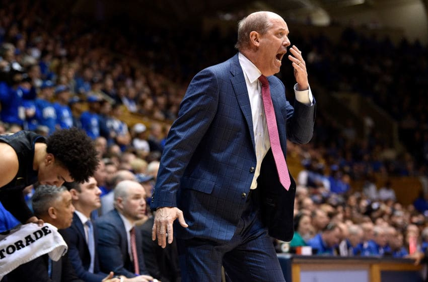 DURHAM, NC - JANUARY 20: Head coach Kevin Stallings of the Pittsburgh Panthers reacts during their game against the Duke Blue Devils at Cameron Indoor Stadium on January 20, 2018 in Durham, North Carolina. (Photo by Grant Halverson/Getty Images)