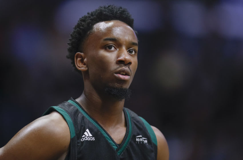WEST LAFAYETTE, IN - NOVEMBER 06: Amari Davis #1 of the Green Bay Phoenix is seen during the game against the Purdue Boilermakers at Mackey Arena on November 6, 2019 in West Lafayette, Indiana. (Photo by Michael Hickey/Getty Images)