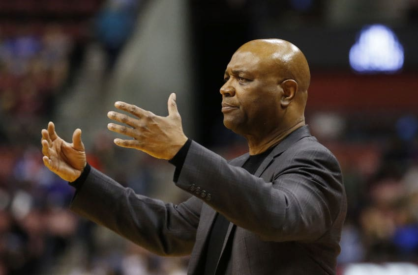 SUNRISE, FLORIDA - DECEMBER 21: Head coach Leonard Hamilton of the Florida State Seminoles looks on against the South Florida Bulls during the second half of the Orange Bowl Basketball Classic at BB&T Center on December 21, 2019 in Sunrise, Florida. (Photo by Michael Reaves/Getty Images)