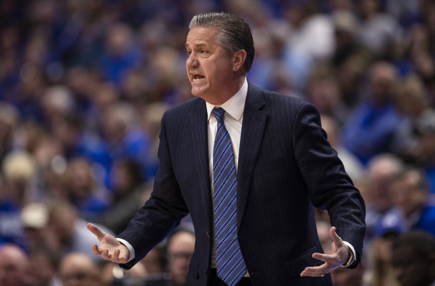 LEXINGTON, KY - FEBRUARY 29: Head coach John Calipari of the Kentucky Wildcats is seen during the game against the Auburn Tigers at Rupp Arena on February 29, 2020 in Lexington, Kentucky. (Photo by Michael Hickey/Getty Images)