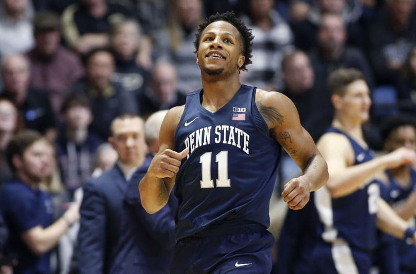 WEST LAFAYETTE, INDIANA - FEBRUARY 11: Lamar Stevens #11 of the Penn State Nittany Lions on the court in the game against the Purdue Boilermakers at Mackey Arena on February 11, 2020 in West Lafayette, Indiana. (Photo by Justin Casterline/Getty Images)