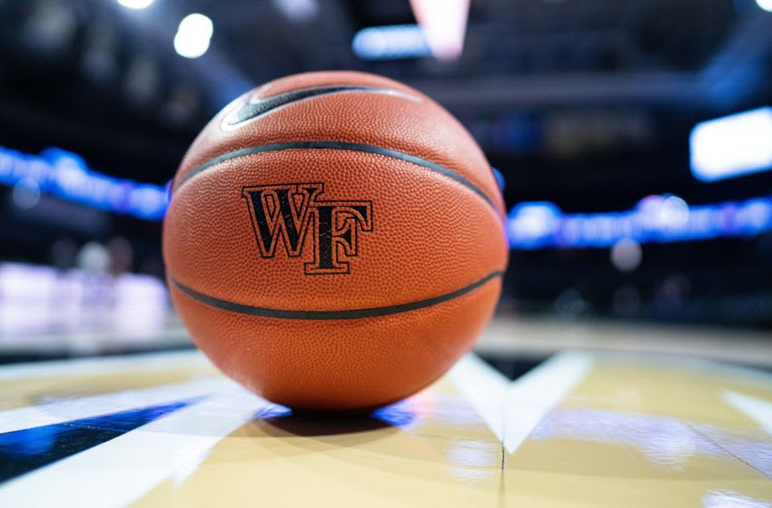 WINSTON-SALEM, NORTH CAROLINA - FEBRUARY 25: A Wake Forest Demon Deacons basketball before their game against the Duke Blue Devils at LJVM Coliseum Complex on February 25, 2020 in Winston-Salem, North Carolina. (Photo by Jacob Kupferman/Getty Images)