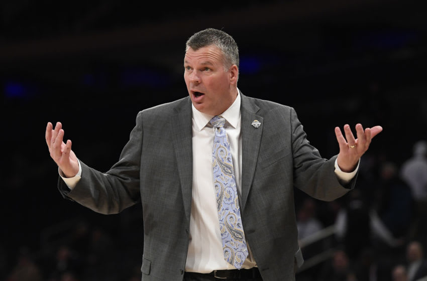 NEW YORK, NEW YORK - MARCH 12: Head coach Greg McDermott of the Creighton Bluejays reacts in the first half against the St. John's Red Storm during the quarterfinals of the Big East Basketball Tournament at Madison Square Garden on March 12, 2020 in New York City. (Photo by Sarah Stier/Getty Images)