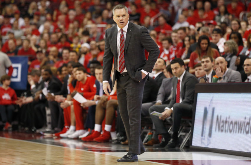 COLUMBUS, OHIO - MARCH 01: Head coach Chris Holtmann of the Ohio State Buckeyes on the sidelines in the game against the Michigan Wolverines at Value City Arena on March 01, 2020 in Columbus, Ohio. (Photo by Justin Casterline/Getty Images)