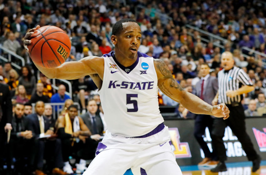 ATLANTA, GA - MARCH 24: Barry Brown #5 of the Kansas State Wildcats controls ball against the Loyola Ramblers in the first half during the 2018 NCAA Men's Basketball Tournament South Regional at Philips Arena on March 24, 2018 in Atlanta, Georgia. (Photo by Kevin C. Cox/Getty Images)