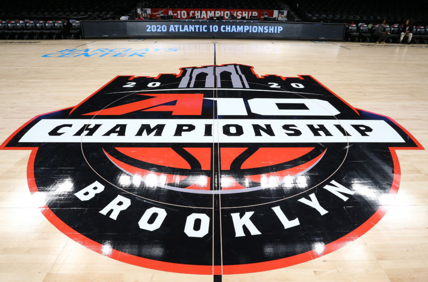 NEW YORK, NEW YORK - MARCH 12: A general view of the Barclay Center prior to the start of the 2020 Atlantic 10 Men's Basketball Tournament - Second Round on March 12, 2020 in the Brooklyn Borough of New York City. Tournament games will be played without fans amid growing concerns of the spread of COVID-19 (Coronavirus). (Photo by Mike Stobe/Getty Images)