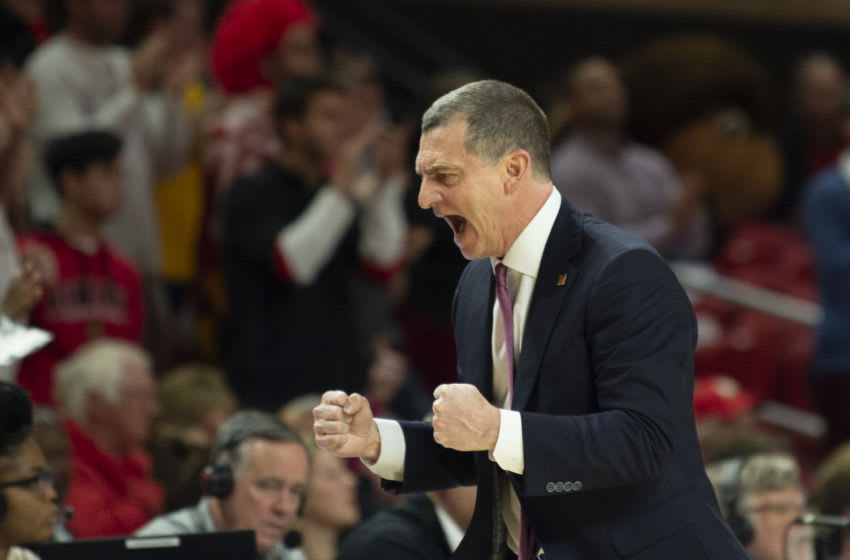 Feb 18, 2020; College Park, Maryland, USA; Maryland Terrapins head coach Mark Turgeon reacts during the second half against the Northwestern Wildcats at XFINITY Center. Mandatory Credit: Tommy Gilligan-USA TODAY Sports