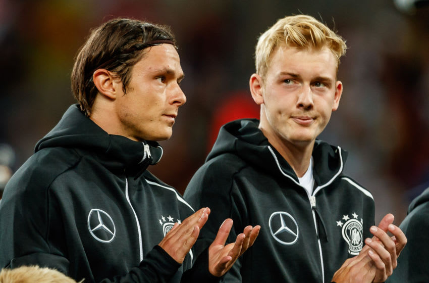 SINSHEIM, GERMANY - SEPTEMBER 09: Nico Schulz of Germany , Julian Brandt of Germany looks on during the International Friendly match between Germany and Peru on September 9, 2018 in Sinsheim, Germany. (Photo by TF-Images/Getty Images)