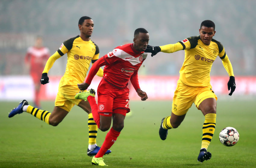 Manuel Akanji and Abdou Diallo have both been ruled out with injuries they suffered during the Dusseldorf defeat (Photo by Dean Mouhtaropoulos/Bongarts/Getty Images)