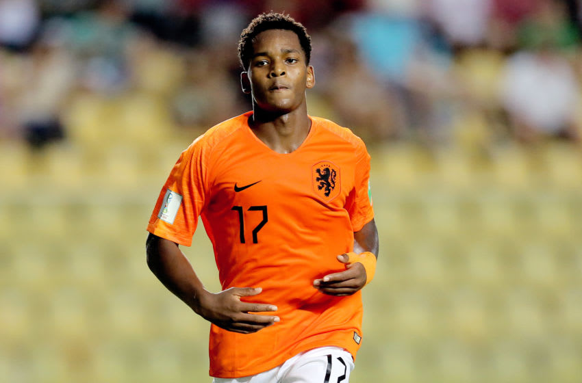 Jayden Braaf in action for Holland U17 (Photo by Soccrates/Getty Images)