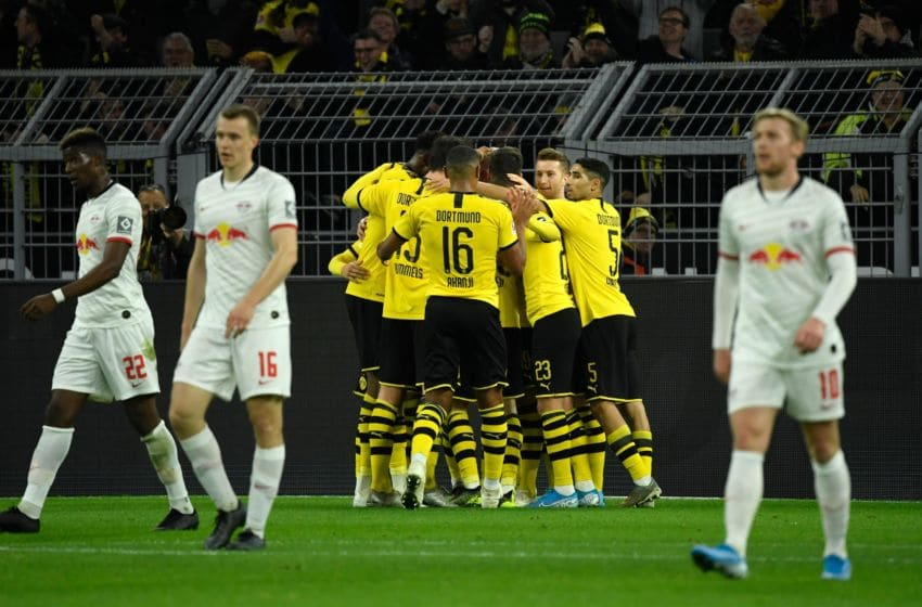 Borussia Dortmund will be aiming to seal second place this weekend (Photo by INA FASSBENDER/AFP via Getty Images)