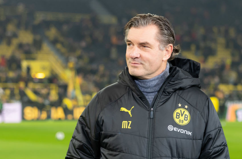 DORTMUND, GERMANY - JANUARY 24: (BILD ZEITUNG OUT) sporting director Michael Zorc of Borussia Dortmund looks on prior to the Bundesliga match between Borussia Dortmund and 1. FC Koeln at Signal Iduna Park on January 24, 2020 in Dortmund, Germany. (Photo by TF-Images/Getty Images)