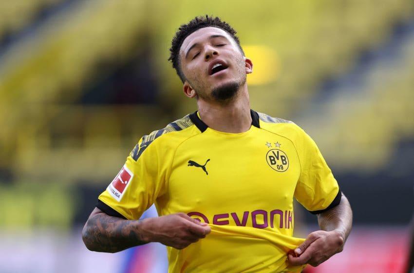 Jadon Sancho reportedly wants a move to the Premier League this summer (Photo by LARS BARON/POOL/AFP via Getty Images)