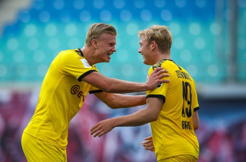 Erling Haaland and Julian Brandt have developed an excellent partnership (Photo by RONNY HARTMANN/AFP via Getty Images)