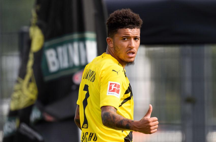Jadon Sancho of Borussia Dortmund (Photo by Alex Gottschalk/DeFodi Images via Getty Images)