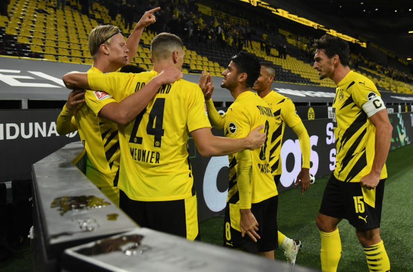 Borussia Dortmund enjoyed a comfortable win over Schalke (Photo by INA FASSBENDER/AFP via Getty Images)