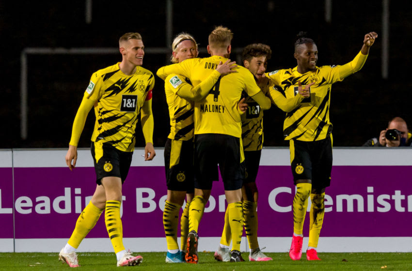 Borussia Dortmund II need only one point from their final game of the season. (Photo by Mario Hommes/DeFodi Images via Getty Images)