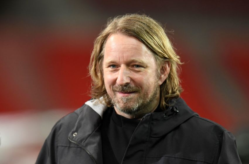 Stuttgart's sporting director Sven Mislintat is attracting interest from Borussia Dortmund (Photo by THOMAS KIENZLE/POOL/AFP via Getty Images)