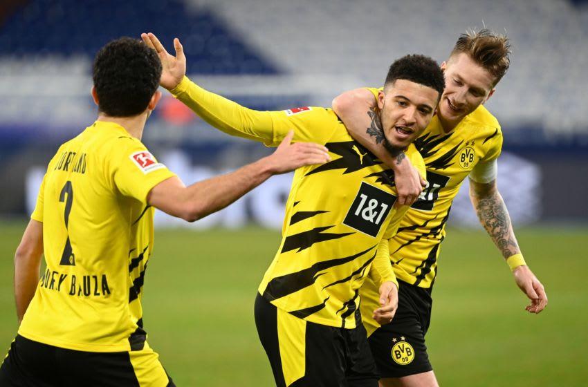 Jadon Sancho scored for Borussia Dortmund against Schalke (Photo by INA FASSBENDER/AFP via Getty Images)