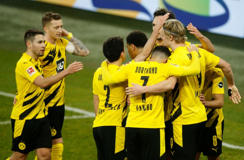 Borussia Dortmund will be eyeing a comfortable win this weekend (Photo by LEON KUEGELER/POOL/AFP via Getty Images)