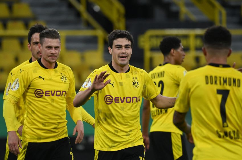 Gio Reyna starred in Borussia Dortmund's win over Holstein Kiel (Photo by INA FASSBENDER/POOL/AFP via Getty Images)