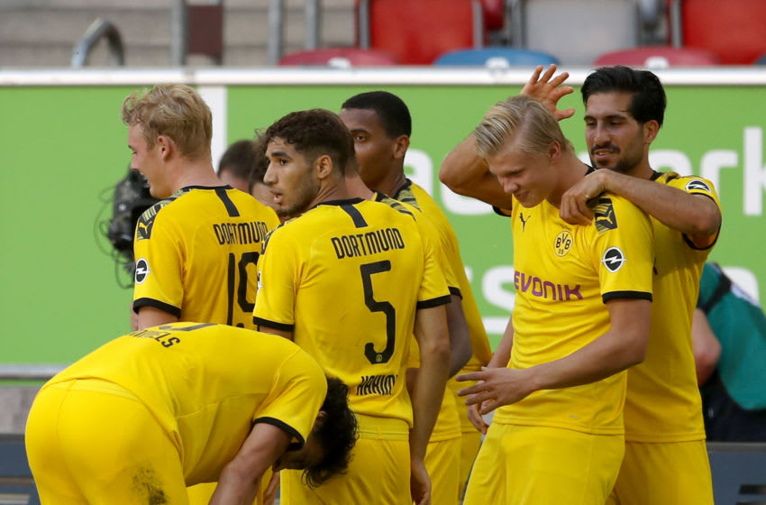 Erling Haaland scored a late winner for Borussia Dortmund (Photo by Lars Baron/Getty Images)