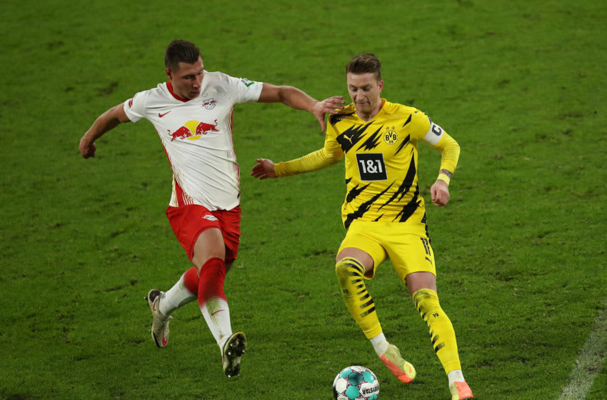 Marco Reus helped Borussia Dortmund earn a 3-1 win over Leipzig (Photo by Maja Hitij/Getty Images)