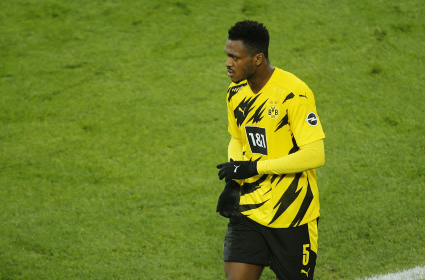 Dan-Axel Zagadou is back in training for Borussia Dortmund (Photo by Leon Kuegeler - Pool/Getty Images)