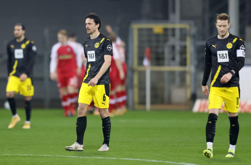 Borussia Dortmund were beaten by Freiburg (Photo by Ronald Wittek - Pool/Getty Images)