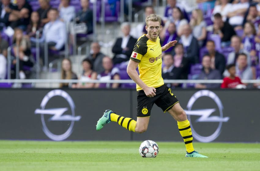 VIENNA, AUSTRIA - JULY 13: Andre Schuerrle of Borussia Dortmund controls the ball during the friendly match between Austria Wien and Borussia Dortmund at Generali Arena on July 13, 2018 in Vienna, Austria. (Photo by TF-Images/Getty Images)