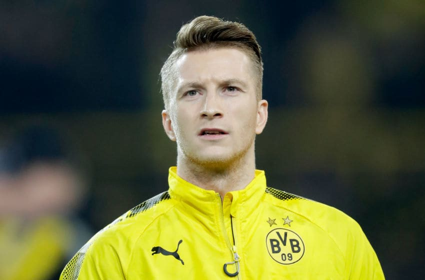 DORTMUND, GERMANY - FEBRUARY 15: Marco Reus of Borussia Dortmund during the UEFA Europa League match between Borussia Dortmund v Atalanta Bergamo at the Signal Iduna Park on February 15, 2018 in Dortmund Germany (Photo by Laurens Lindhout/Soccrates/Getty Images)