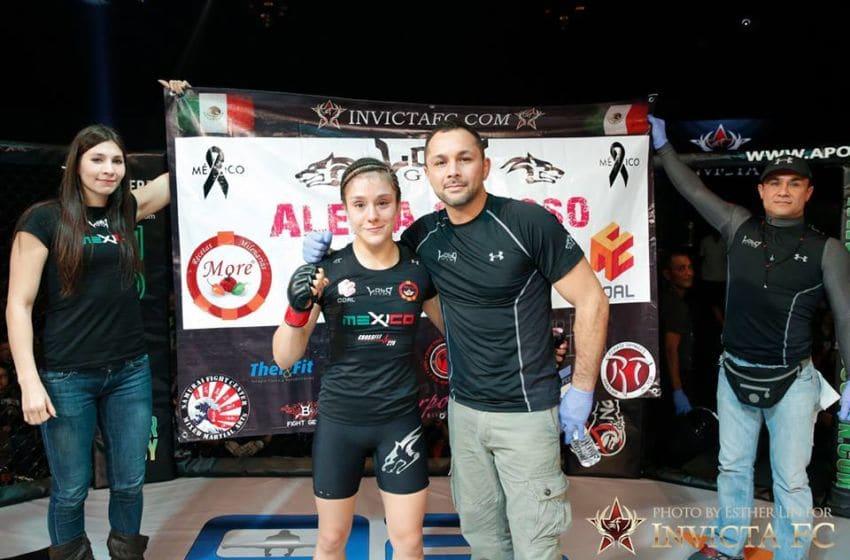 Alexa Grasso celebrates her win over Alida Gray. Photo Credit: Esther Lin-Invicta FC