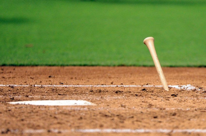 Jul 16, 2016; Phoenix, AZ, USA; A broken piece of Los Angeles Dodgers starting pitcher Brandon McCarthy