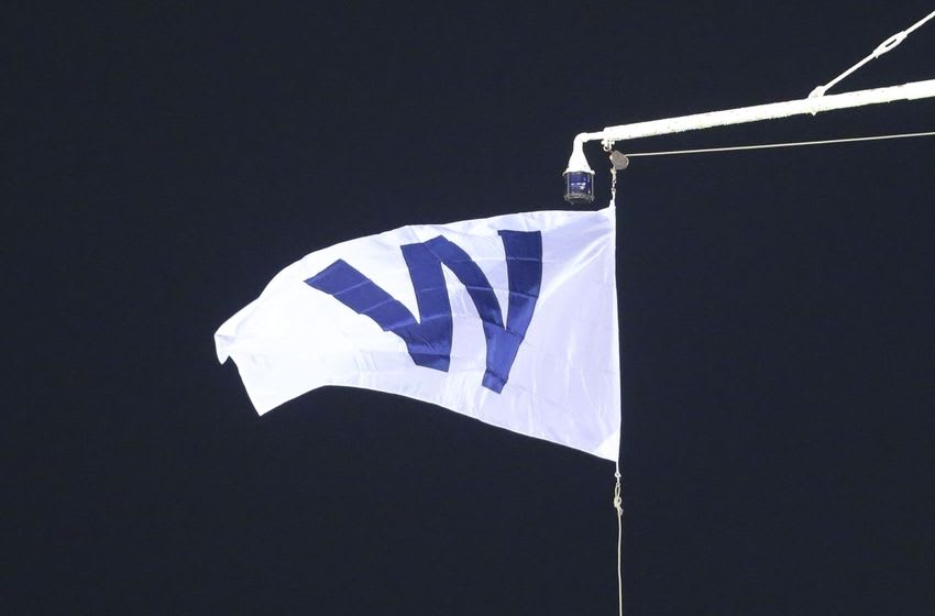 Oct 30, 2016; Chicago, IL, USA; The W flag is raised after game five of the 2016 World Series between the Chicago Cubs and the Cleveland Indians at Wrigley Field. The Cubs defeated the Indians 3-2. Mandatory Credit: Dennis Wierzbicki-USA TODAY Sports