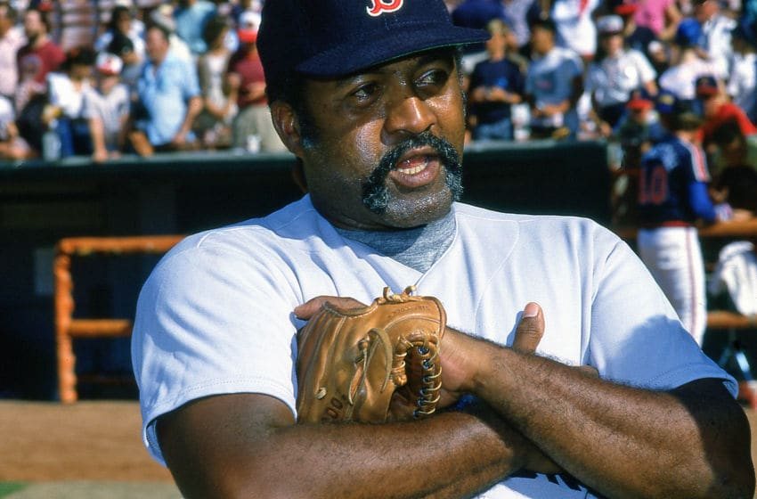 ANAHEIM,CA - CIRCA 1988:Luis Tiant of the Boston Red Sox in a Oldtimers game played at the Big A circa 1988 in Anaheim,California. (Photo by Owen C. Shaw/Getty Images)