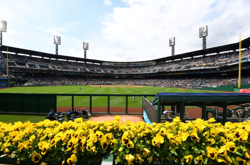 PITTSBURGH, PA - MAY 20: A general view of PNC Park during a game between the San Diego Padres and the Pittsburgh Pirates at PNC Park on Sunday, May 20, 2018 in Pittsburgh, Pennsylvania. (Photo by Joe Sargent/MLB via Getty Images)