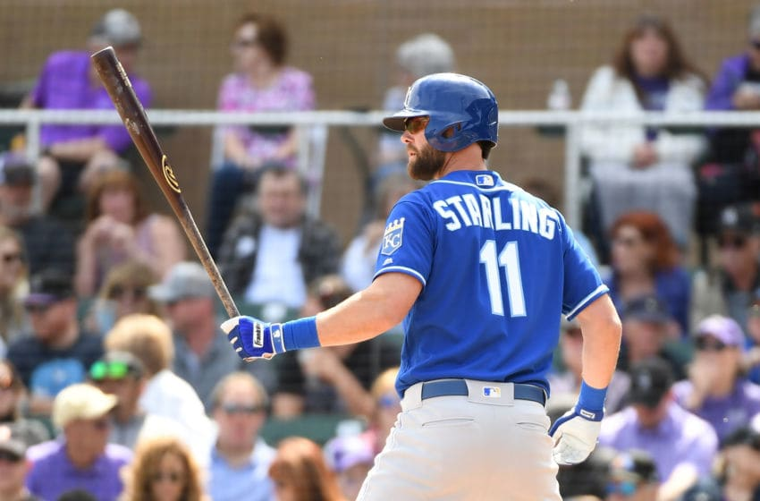 SCOTTSDALE, AZ - MARCH 15: Bubba Starling #11 of the Kansas City Royals gets ready in the batters box against the Colorado Rockies during a spring training game against at Salt River Fields at Talking Stick on March 15, 2019 in Scottsdale, Arizona. (Photo by Norm Hall/Getty Images)
