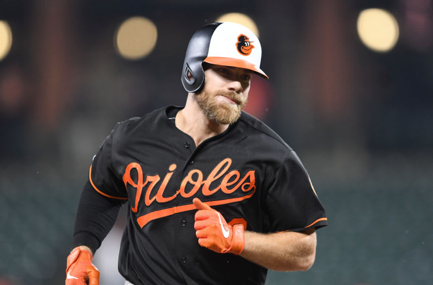 BALTIMORE, MD - MAY 10: Chris Davis #19 of the Baltimore Orioles rounds the bases after hitting a home run against the Los Angeles Angels at Oriole Park at Camden Yards on May 10, 2019 in Baltimore, Maryland. (Photo by G Fiume/Getty Images)