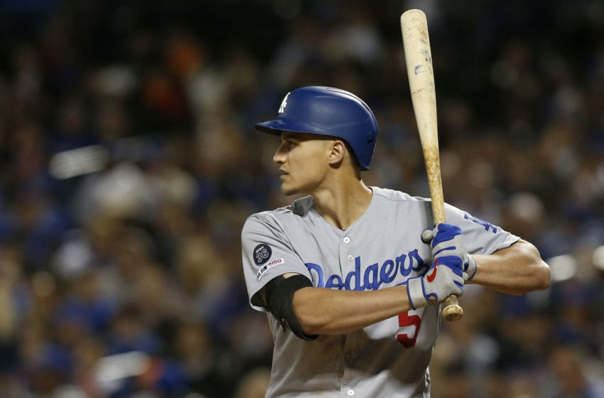 NEW YORK, NEW YORK - SEPTEMBER 13: Corey Seager #5 of the Los Angeles Dodgers in action against the New York Mets at Citi Field on September 13, 2019 in New York City. The Dodgers defeated the Mets 9-2. (Photo by Jim McIsaac/Getty Images)