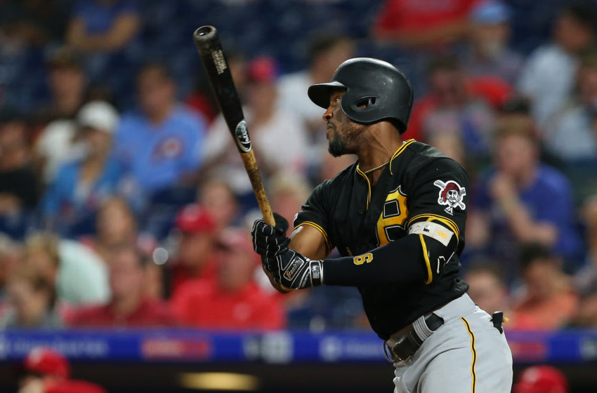 PHILADELPHIA, PA - AUGUST 28: Starling Marte #6 of the Pittsburgh Pirates in action against the Philadelphia Phillies during a game at Citizens Bank Park on August 28, 2019 in Philadelphia, Pennsylvania. (Photo by Rich Schultz/Getty Images)