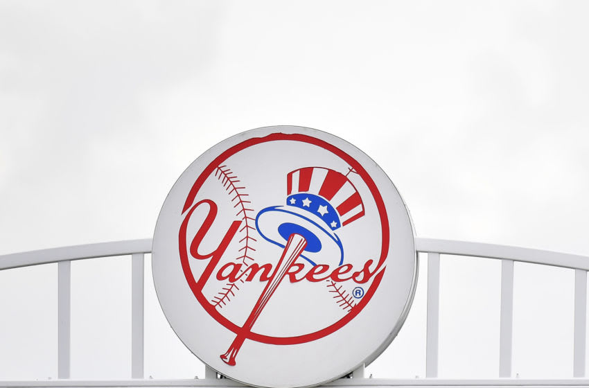 TAMPA, FLORIDA - FEBRUARY 26: A detailed view of the New York Yankees logo on top of Steinbrenner Field before the spring training game between the New York Yankees and the Washington Nationals at Steinbrenner Field on February 26, 2020 in Tampa, Florida. (Photo by Mark Brown/Getty Images)
